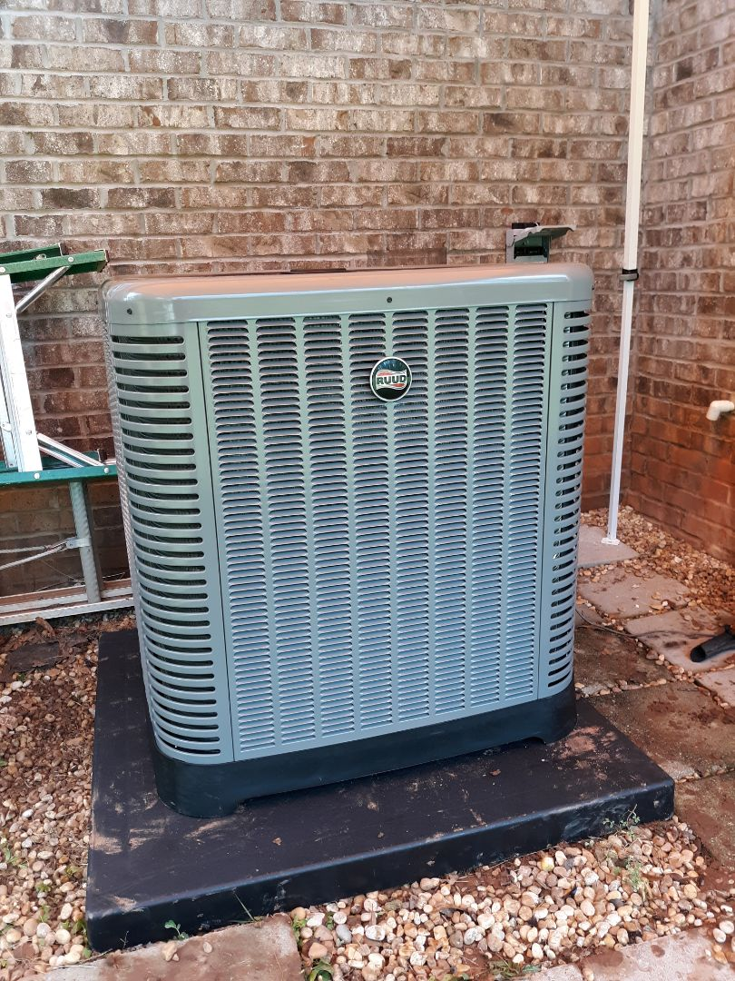 Ellerslie, GA - Install new hvac system. Ruud heating and cooling.  Ceiling protection and digital thermostat.