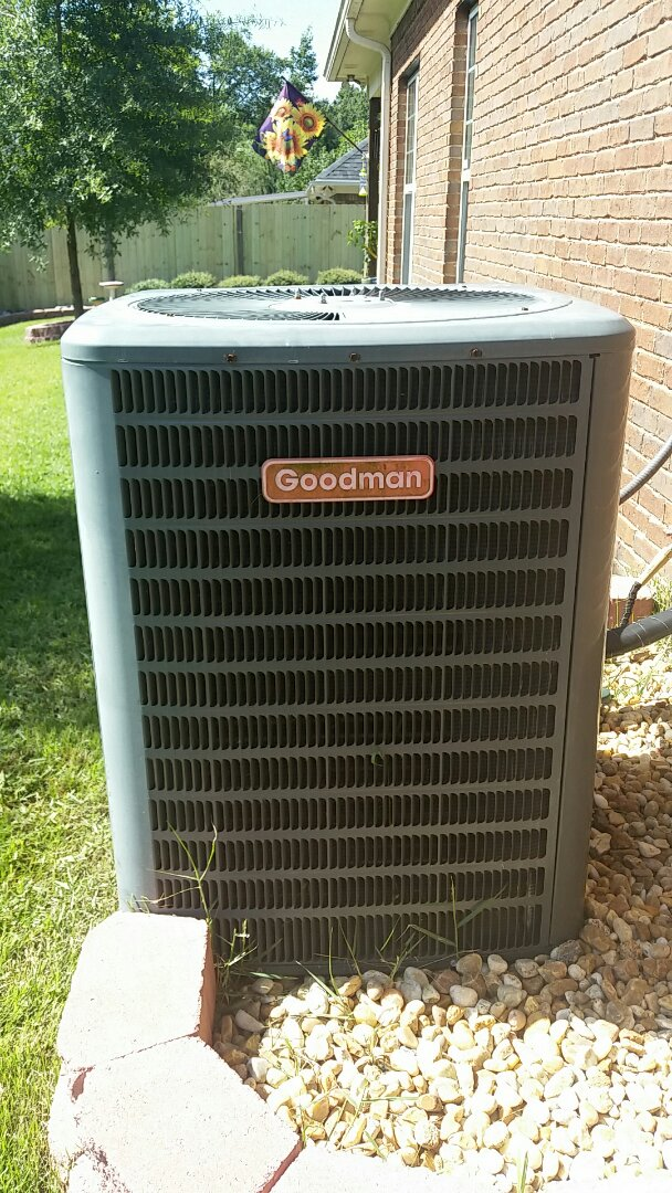 Smiths Station, AL - Goodman ac repair.  Low on coolant.