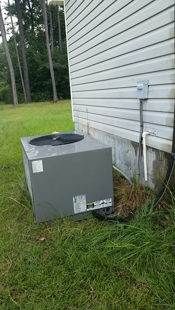 Smiths Station, AL - Air conditioner repair for condensation drain leak.