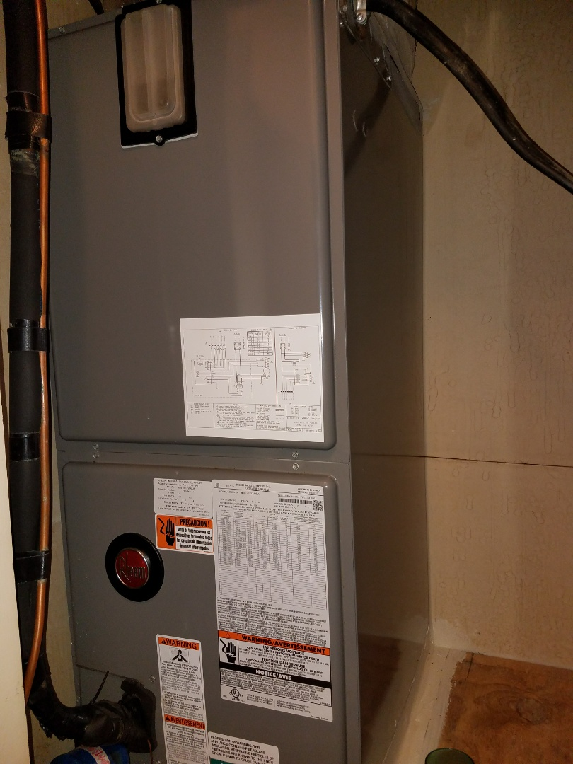 Salem, AL - Service call Rheem air handler and heat pump Electrical and safety  repair