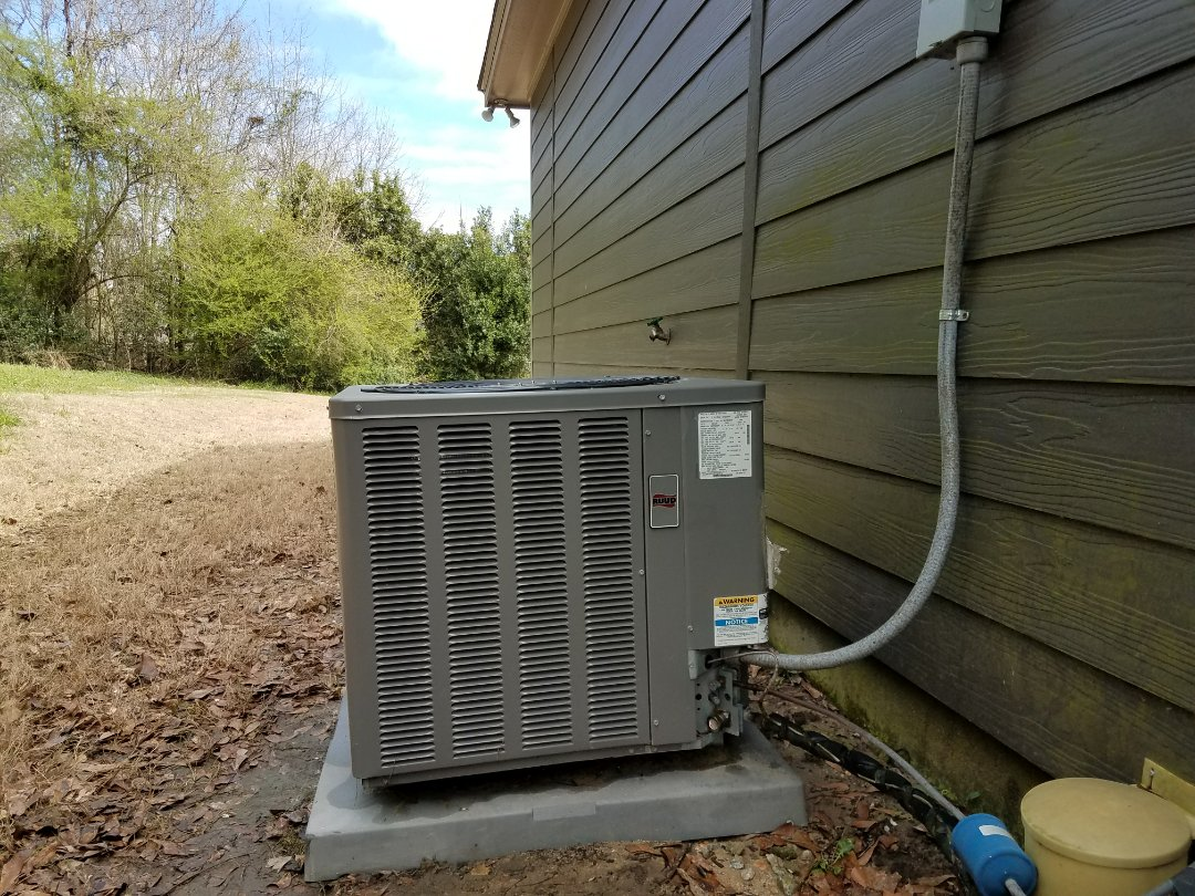 Phenix City, AL - Service Call Ruud heat pump air conditioner system repair