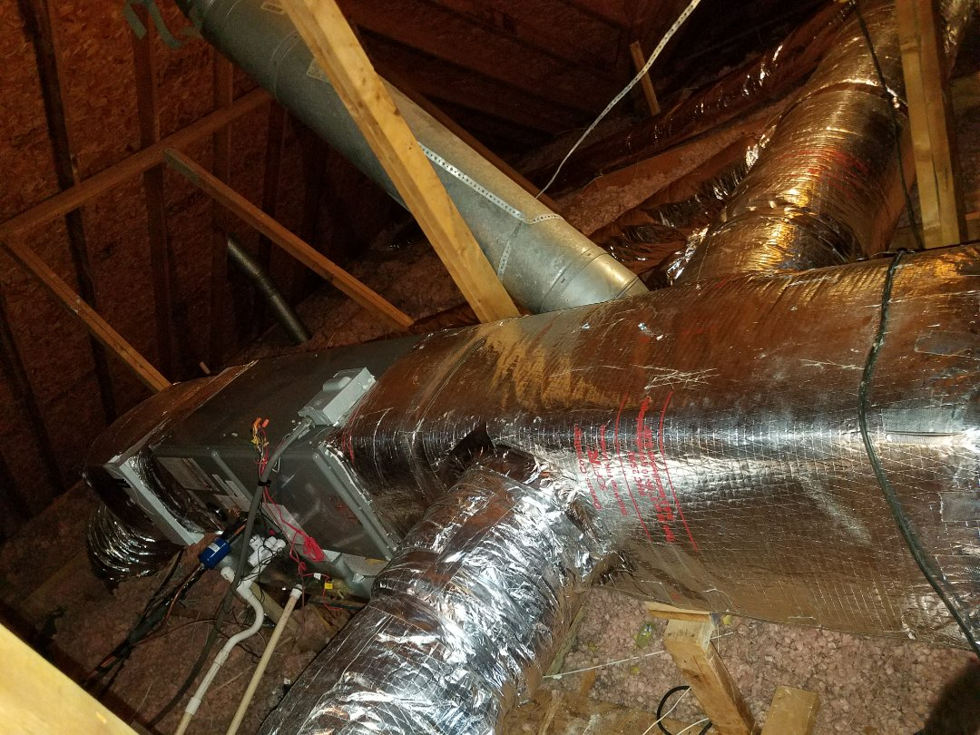 Phenix City, AL -  Complete new Ruud heating, air, and duct system.  Now breathing safe, healthy,  comfortable, and efficient air.