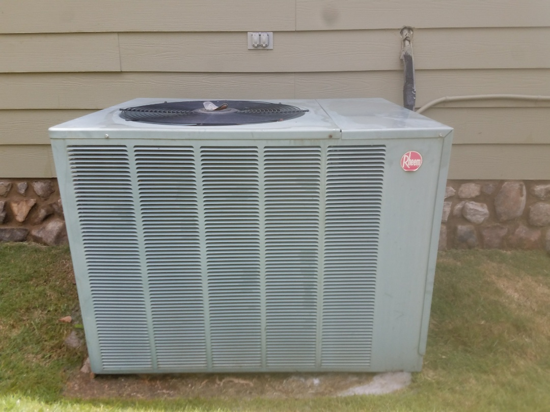 Smiths Station, AL - Service call Rheem ac unit. Electrical control renovation.  Capacitor.  Maintenace and tune up
