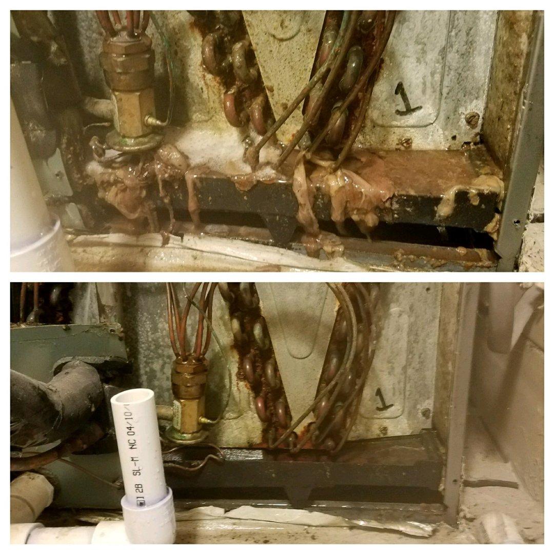 Smiths Station, AL - Goodman air conditioner repair. Clean drain.