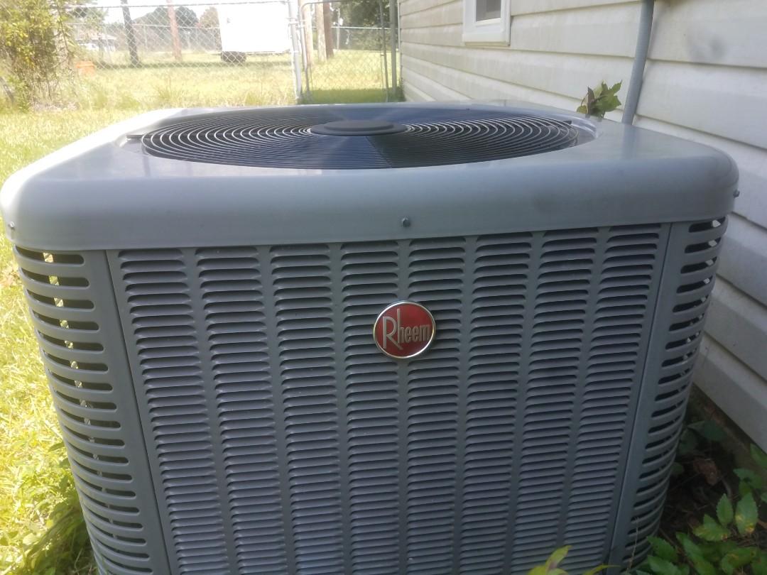 Phenix City, AL - Rheem air conditioner service call seasonal maintenance tune up