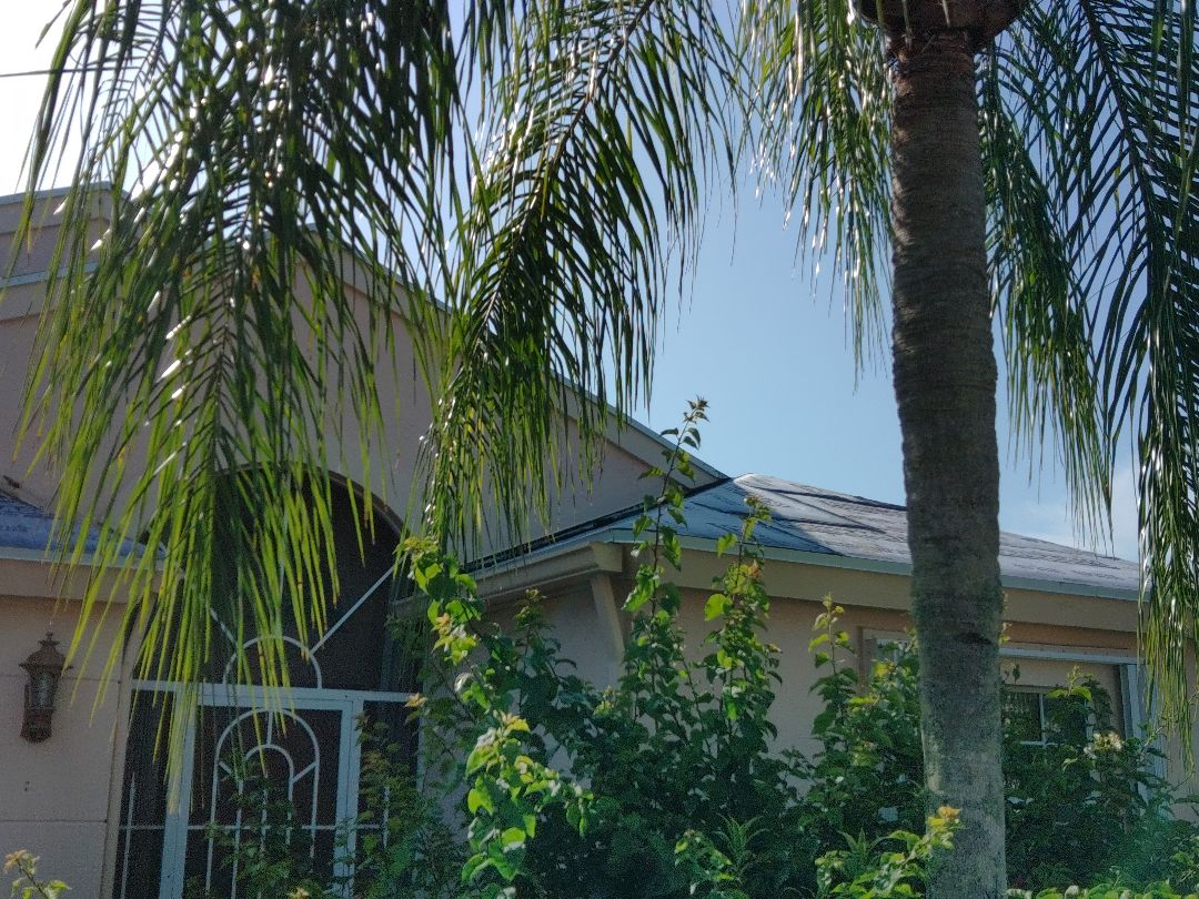 Boynton Beach, FL - Arrived on site. Setting up and preparing to install hip & ridge metal to complete peel & stick install.