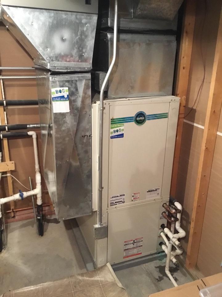 Geothermal heat pump maintenance no repair