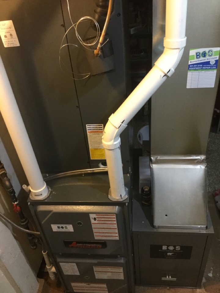 Altoona, IA - Amana furnace and air conditioner install