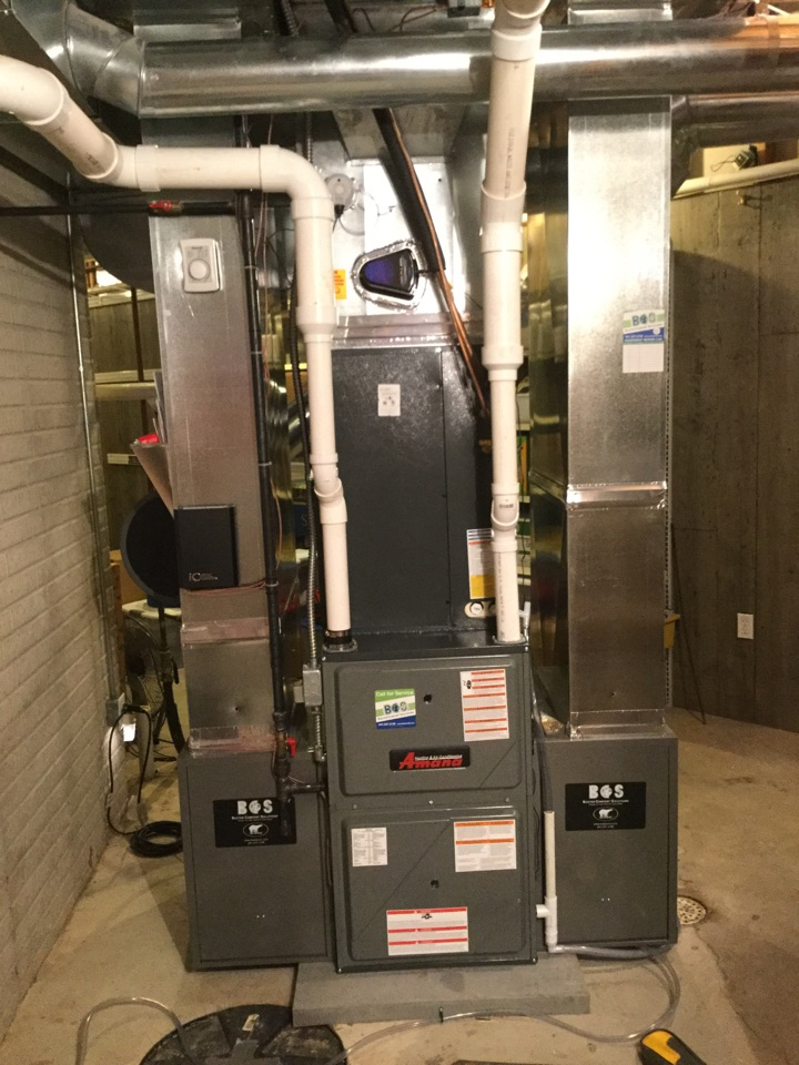Mitchellville, IA - Trane to Amana furnace and air conditioner replace