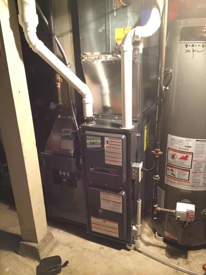 Newton, IA - TempStar furnace replace - Amana