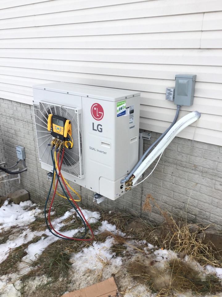 Newton, IA - LG mini split, Ruud water heater, Maytag furnace, Goodman air conditioner install
