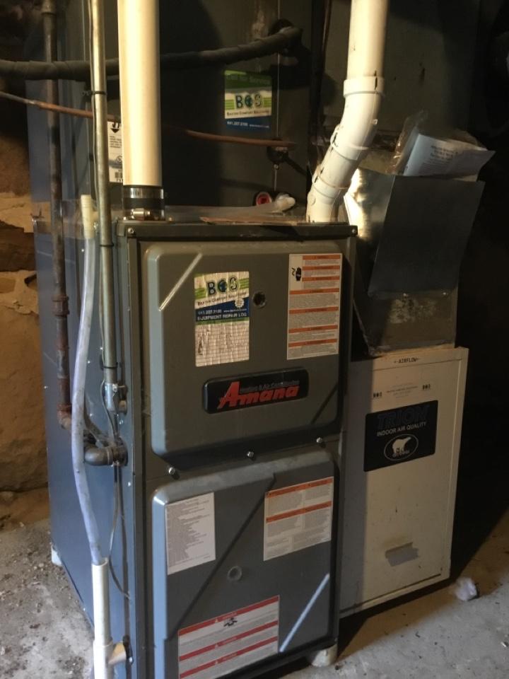 Laurel, IA - Amana furnace maintenance no repair