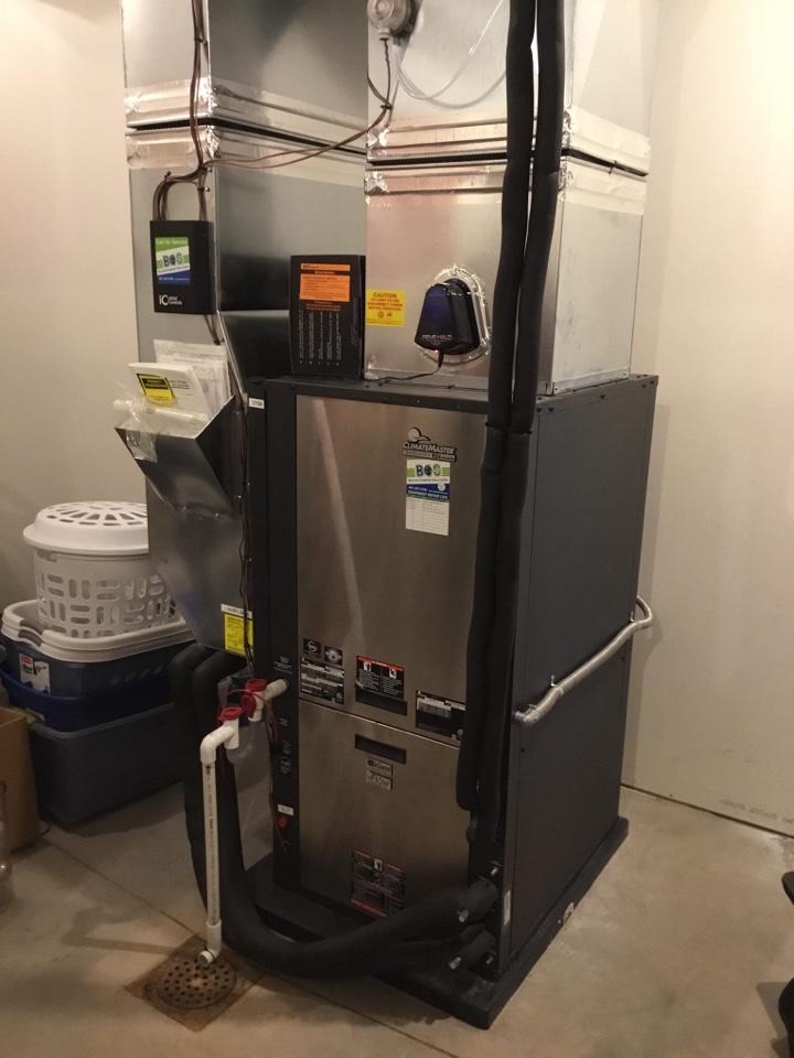 Newton, IA - ClimateMaster geothermal heat pump maintenance no repair