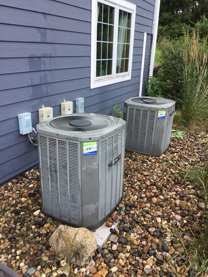 Colfax, IA - Trane air conditioner maintenance repair