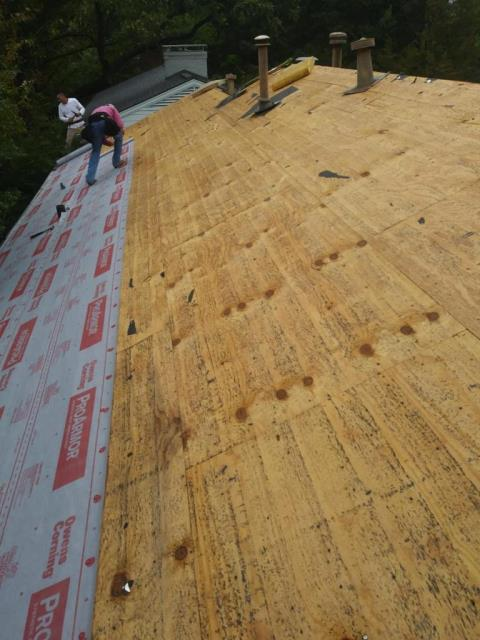 Dallas, TX - We've completed this reroof project where we laid out Owens Corning Synthetic underlayment and we inspected for rotted decking