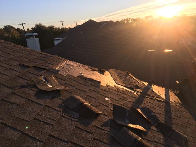 Dallas, TX - We are performing a full tear off and roof replacement with new Architectural Owens Corning Driftwood shingles