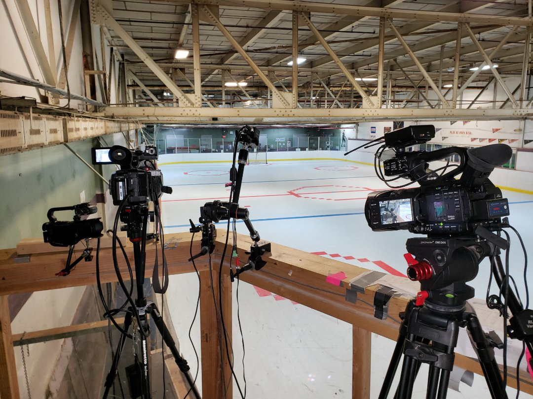 Plainville, CT - Setting two separate hockey live streams!