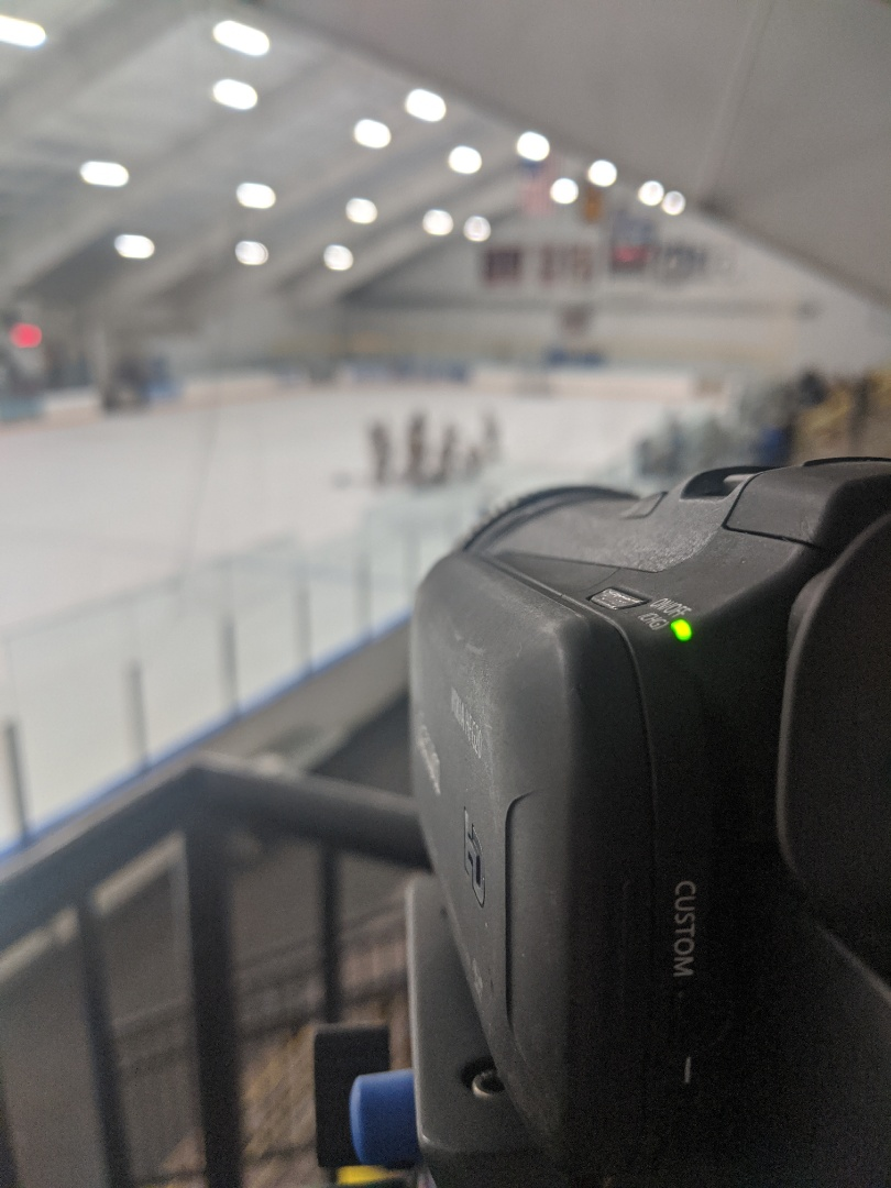 Ridgefield, CT - Ice is getting ready boys youth hockey, filming for Memory to Video Productions !