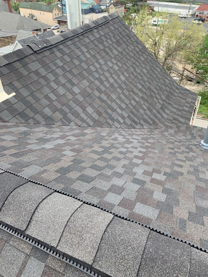 Washington, PA - Installed new GAF lifetime warranty shingled roof.