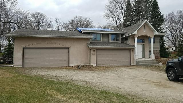 Watertown, MN - always nice to help previous customers with storm damage work. We had to install roofing tarp to prevent interior water damage over the weekend. Will help and assist our customer with the insurance claim process.