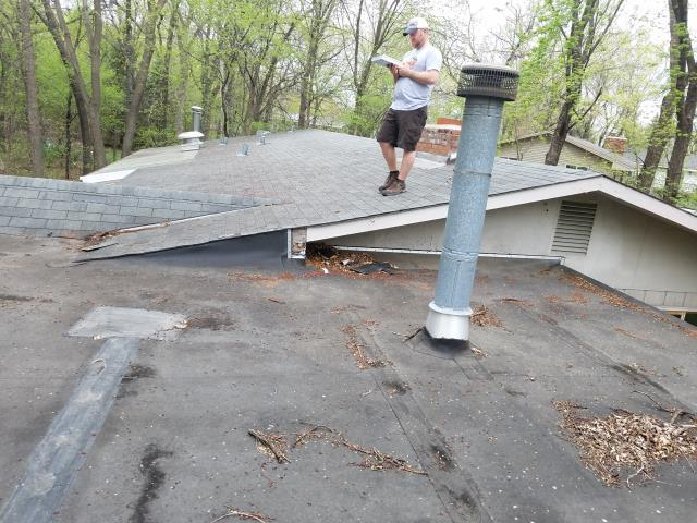 This flat roof is leaking very badly. Prime Home Construction, will fix this issue by redesigning this flat roof with a proper roof slope. Will repair all rotted plywood and replace the roof with new EPDM rubber roof fully adhered.