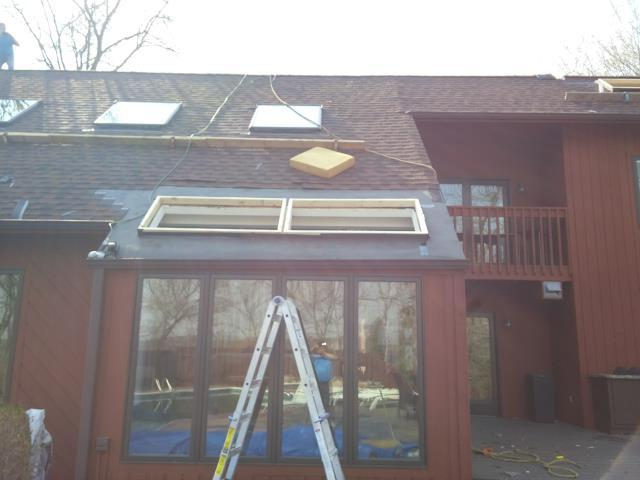 Minneapolis, MN - Working on a Customized Skylight for our customer.