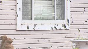 A picture of Hail Damage On siding due to Golf size hail.