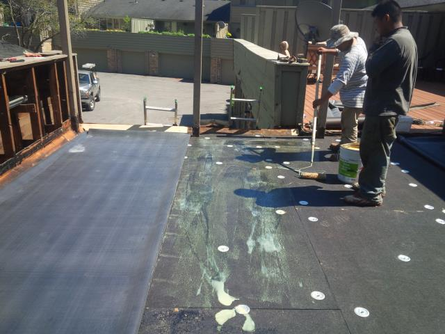 Flat roof Done by prime home construction.