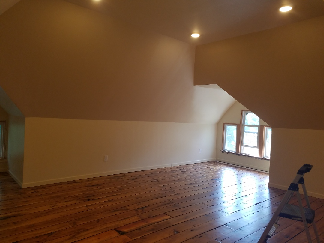 Attic remodeling job almost done. St Paul remodeling contractor