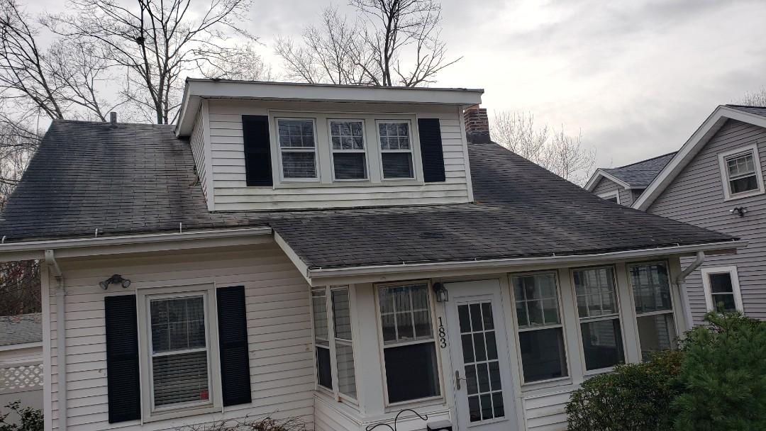 Hamden, CT - Wind damage to the roof.  Hamden Ct