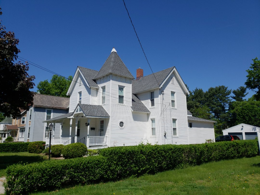 East Hartford, CT - Another Quality GAF Timberline HD Pewter Grey roofing installation on this Nationally Registered Historic home from Harmony Home Improvement a GAF Master Elite Roofing Contractor.