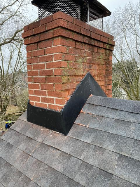 Georgetown, DE - New chimney flashing completed and new GAF HDZ shingles installed!
