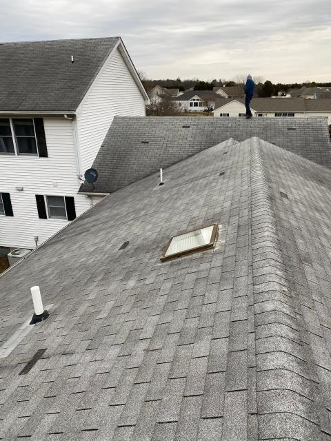 Seaford, DE - Today we are Preforming a Free Roof inspection in Seaford. We found wind damage from recent storms on all slopes of the Residential Roof and will work with the Insurance company to get the new roof fully approved by the insurance company.