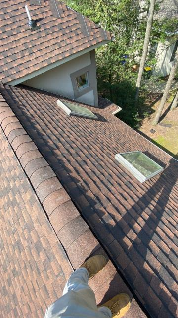 Rehoboth Beach, DE - Roof replacement in Rehoboth Beach.. Brand new GAF Ultra HD Hickory shingle roof in Rehoboth Beach Delaware. This roof had wind damage and the insurance approved for full replacement.