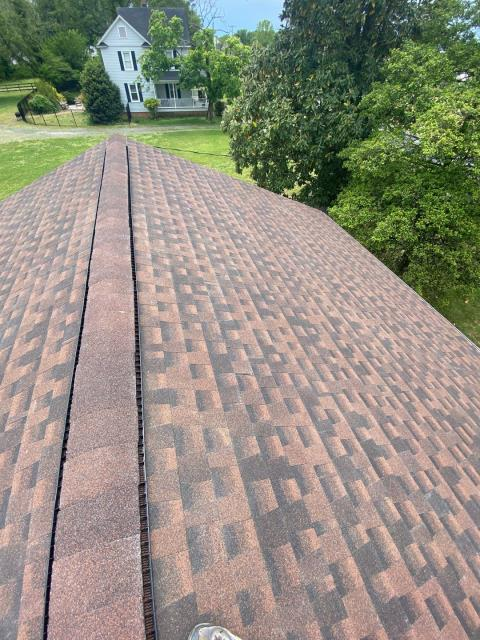 Salisbury, MD - We just finished this beautiful roof replacement in Salisbury, MD with GAF HDZ shingles with the color Hickory.