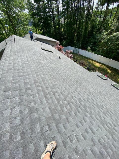 Lewes, DE - New GAF Timberline HDZ roof installed. Full roof replacement and 3 new velux skylights with flashing kits.
