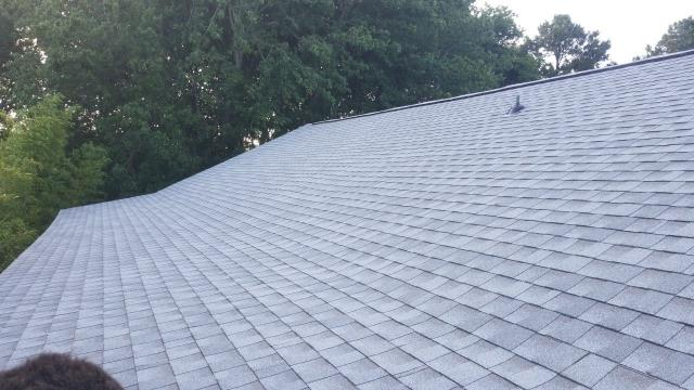 Ocean City, MD - Here is another roof replacement ! We installed new GAF Timberline HDZ shingles! We helped the homeowner get the insurance to approved of the full roof replacement!