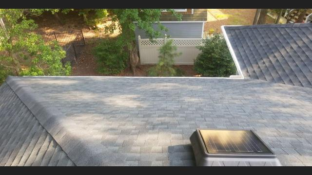 Bethany Beach, DE - Here is a Newly installed GAF Timberline HDZ Shingle roof. Free Inspection, Free estimate, Residential roof replacement.