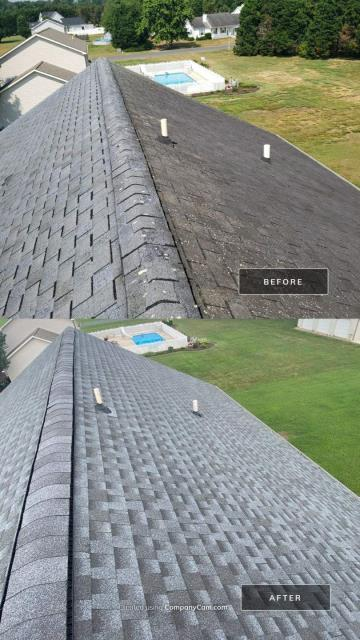 Millsboro, DE - Insurance claim that was originally denied. After negotiating with the adjuster we got the whole roof approved Saving the Homeowner thousands. Installed new GAF timberline HDZ shingle roof .
