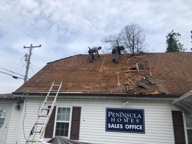 Georgetown, DE - Insurance claim that we helped get fully approved. Cedar shake tear off. Installed new GAF timberline HDZ Pewter Grey Shingles. 50 year non prorated warranty on material and labor.