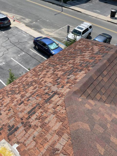 Ocean City, MD - Severe wind damage on roof that we found during our free inspection. This roof is fully approved for full replacement.