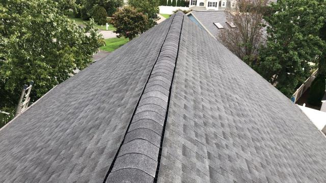 Rehoboth Beach, DE - Newly installed GAF Timberline HDZ Shingle Roof. Insurance claim that was completely denied, and we helped the homeowner get the insurance company to full approve this one.