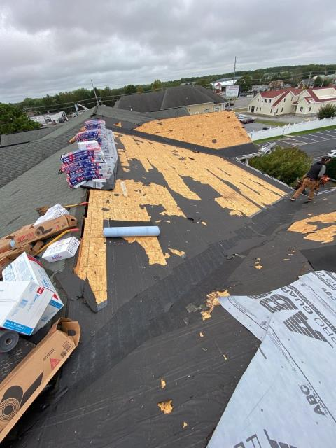 Lewes, DE - Started a commercial roofing project today.  We are doing a complete roof tear off and roof install of new GAF roofing shingles.  We are a preferred commercial roofer in the area.