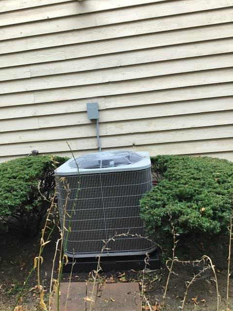 Centerville, OH - During a tune up on a Five Star air conditioner, I tested the pressures, temperatures, wiring and electrical components. I inspected the return air filter and duct system. All tests and readings are within manufacturers specifications at this time.