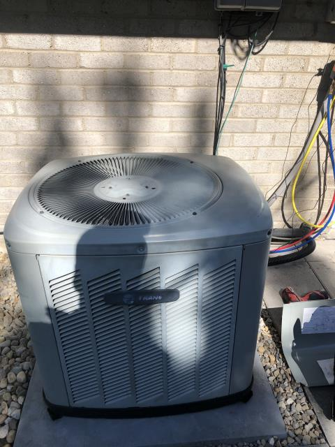 Huber Heights, OH - During a tune up on a Trane air conditioner, I replaced the furnace capacitor. The contactor in the air conditioner has some carbon build up but customer does not want to replace it at this time. All other components are within manufacturers specifications and system is cooling.
