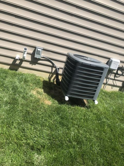 Huber Heights, OH - During a tune up on a Goodman air conditioner, I found that the outdoor capacitor was reading low so I replaced the part. All other components are within manufacturers specifications and system is cooling properly at this time.