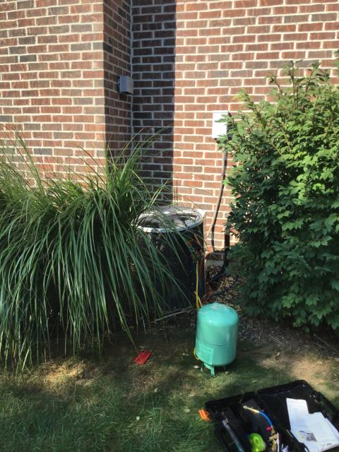 Troy, OH - During a tune up on a Carrier air conditioner, I inspected the blower wheel, the duct system and the return air filter. I tested pressures, temperatures and wiring. All tests and readings are within manufacturers specifications at this time.