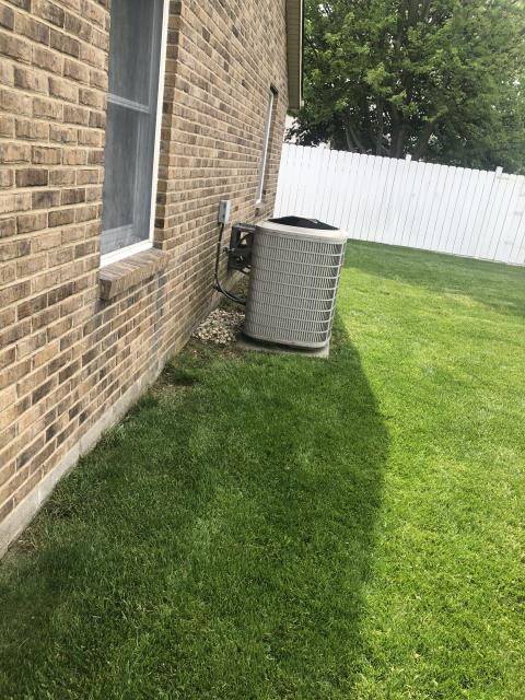 Troy, OH - During a tune up on a Bryant air conditoner, I found that the pressures were off due to low refrigerant levels. I added refrigerant and all systems components are now within manufacturers specifications and system is cooling properly.