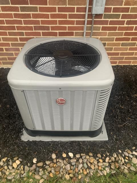 Huber Heights, OH - During a tune up on a Rheem air conditioner, I cleaned the indoor and outdoor coils. I tested pressures, temperatures and electrical components. System is cooling and operating properly at this time.