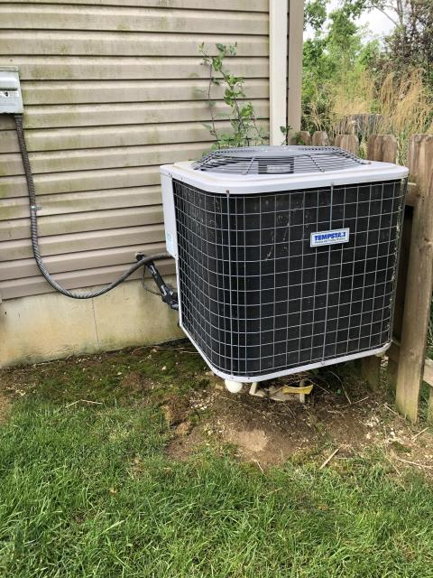 Dayton, OH - During a tune up on a Tempstar air conditioner, I found the outdoor capacitor reading weak and recommend replacing. I also recommend adding refrigerant to the system. Customer will call to move forward with repairs. System is cooling at this time.